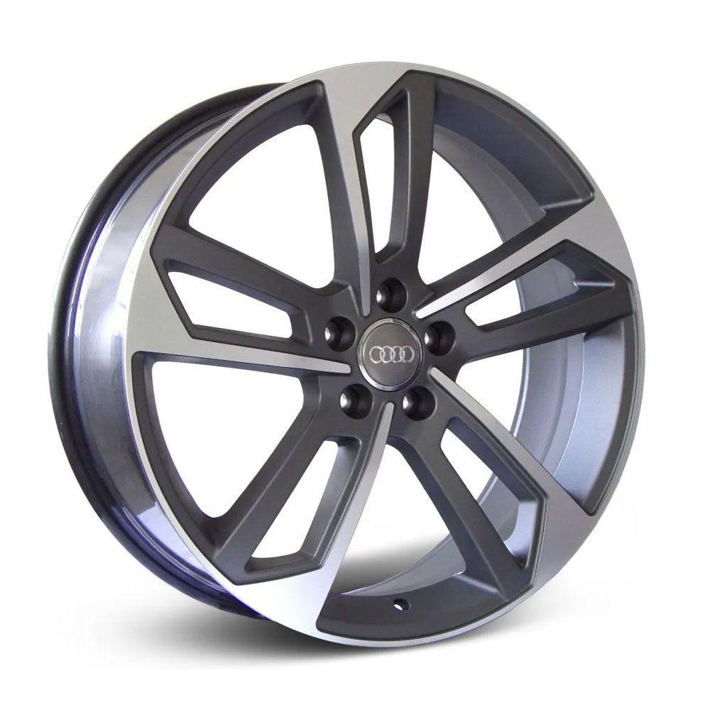 Jogo 4 rodas Raw MC/A09 Audi A4L 5x112 aro 20 tala 8,0 ET45 grafite e diamante fosco
