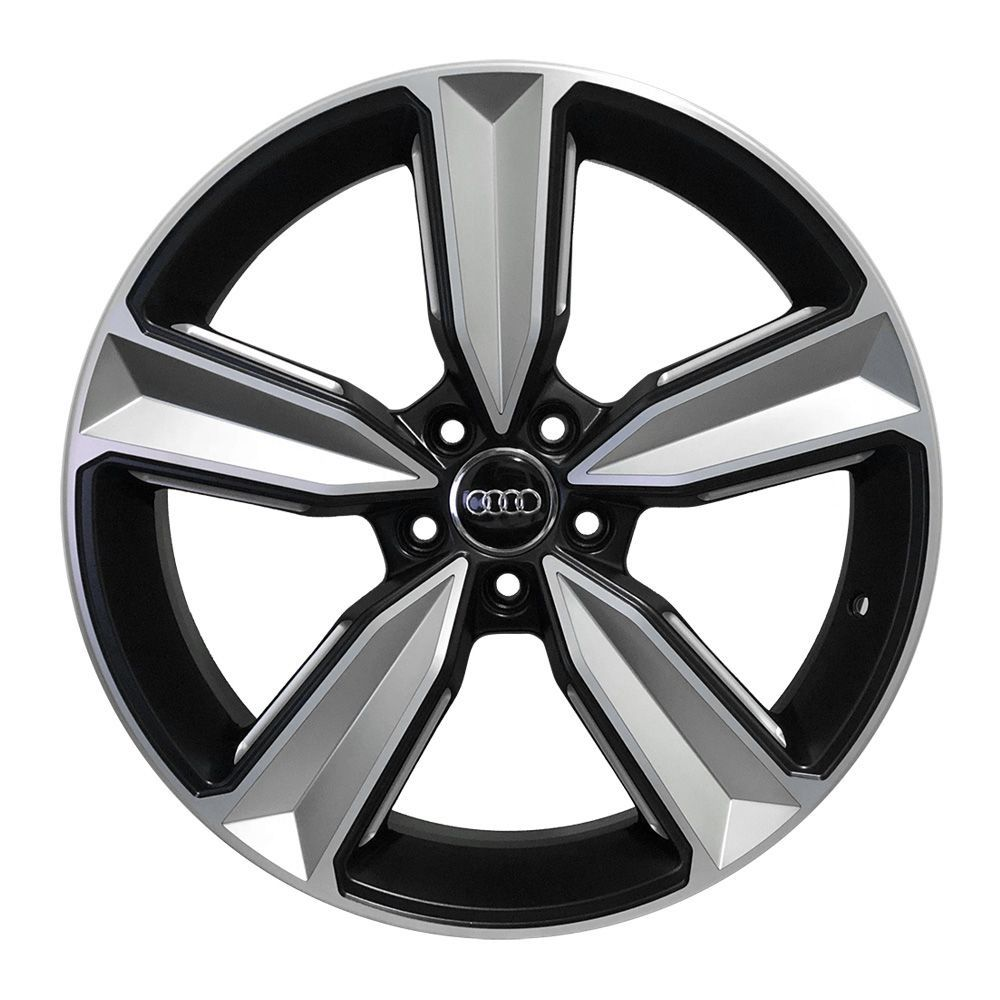 Jogo 4 rodas Raw MC/A14 Audi RS4 2018 5x112 aro 20 tala 9 ET35 preto diamante