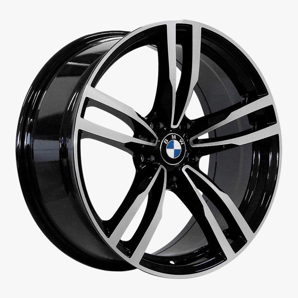 Jogo 4 rodas Raw MC/B07 BMW M4 5x120 aro 20 tala 8,5 ET35 preto diamante