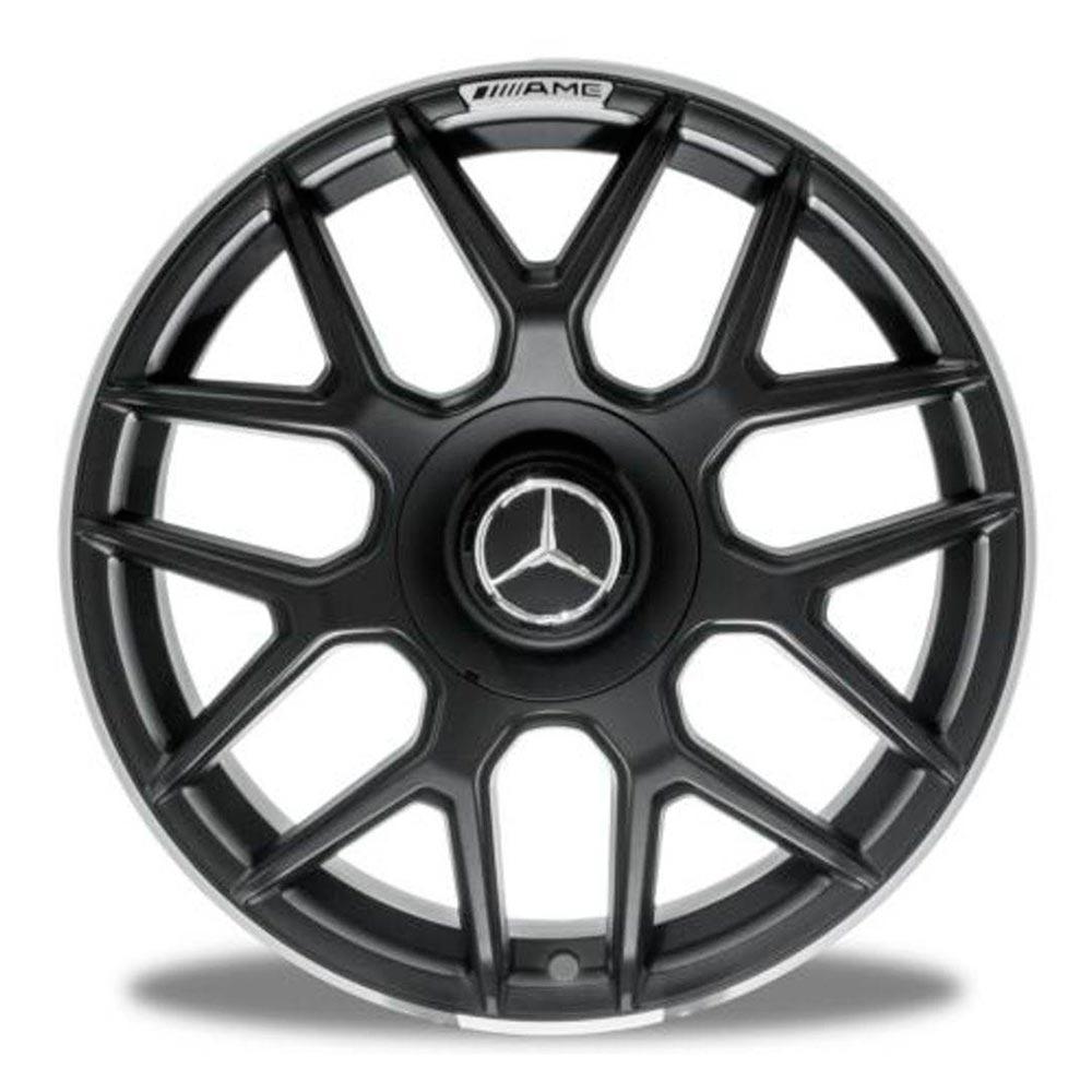 Jogo 4 rodas Raw MC/M10 Mercedes S63 AMG aro 18 tala 8 5x112 et 45 preto fosco com borda diamante