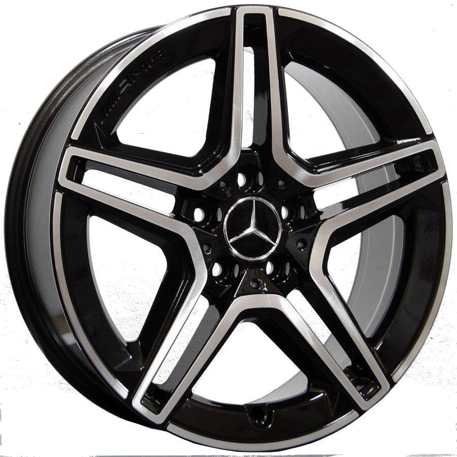 Jogo 4 Rodas Raw MC/M22 Mercedes C300 2020 aro20 tala8 furação 5x112 ET45 Preto com diamantado