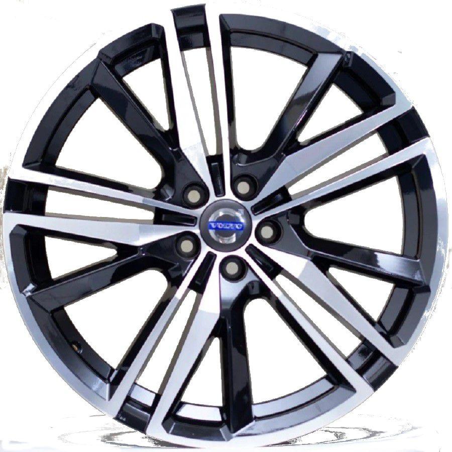 Jogo 4 Rodas Raw MC/V03 Volvo XC60 aro 20 tala 8 furação 5x114,3 ET45 Preto com diamantado