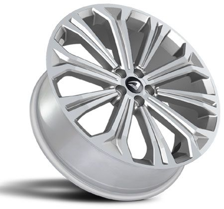 Jogo 4 rodas Volcano Atlanta Novo Corolla aro 20 Tala 7,5 furacão 5X112 ET 45 Prata