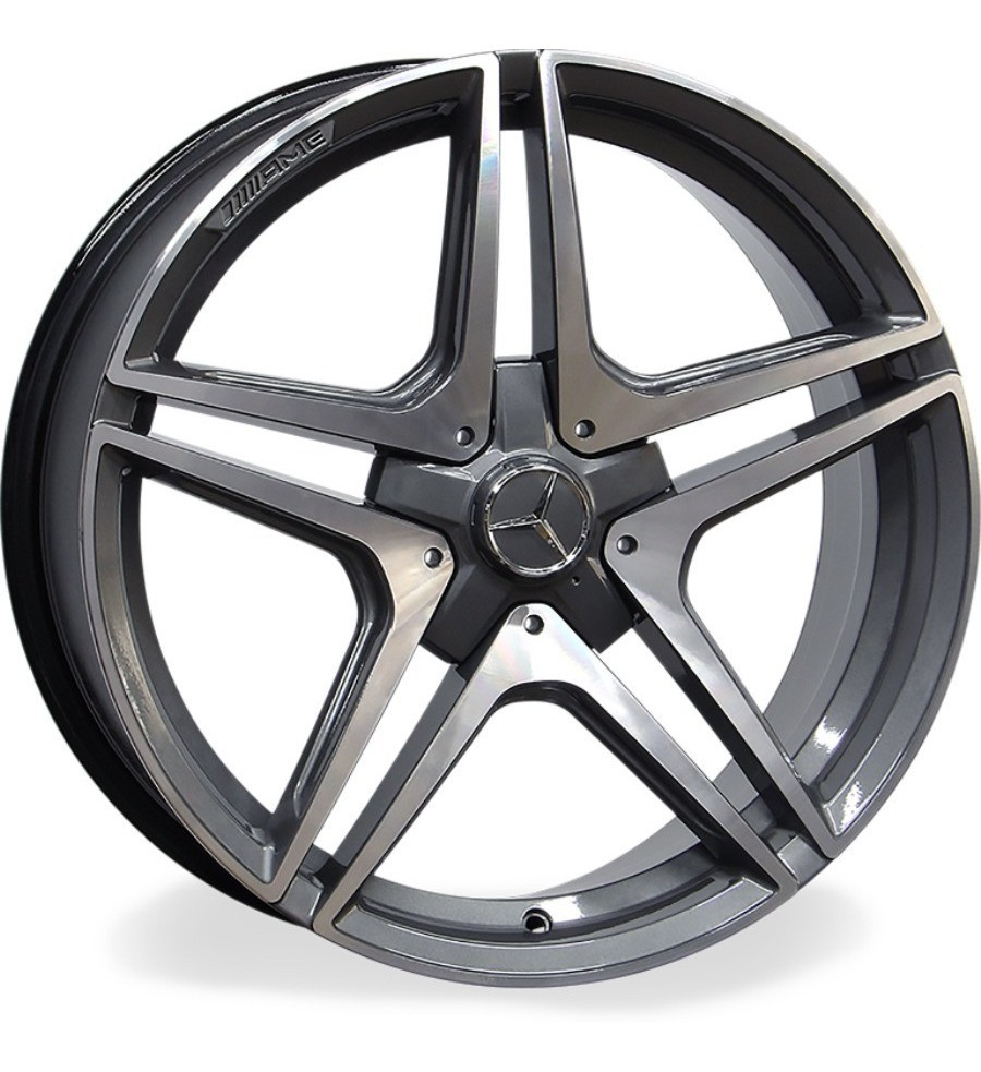 Jogo C/ 02 Rodas Raw MC/M21 Mercedes AMG C63 Aro20 tala 8 ET45 furação 5x112 dianteira e 02 Rodas aro20 tala9  ET50 furação 5x112 traseira Grafite diamantado