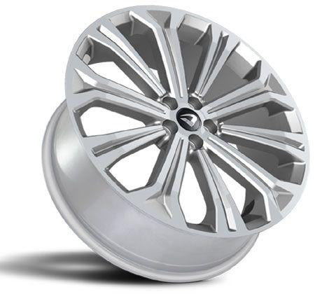 Jogo 4 rodas Volcano Atlanta Novo Corolla aro 20 Tala 7,5 furacão 5X100 ET 45 Prata
