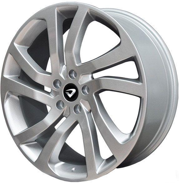"""Jogo com 4 rodas Volcano Luxor Land Rover aro 20"""" furacão 5X100 acabamento prata tala 7"""