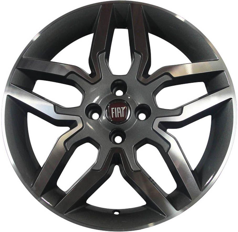 """Jogo com 4 rodas Zunky ZK-530 Idea Sport aro 15"""" furacão 4X98 grafite e diamante tala 6"""