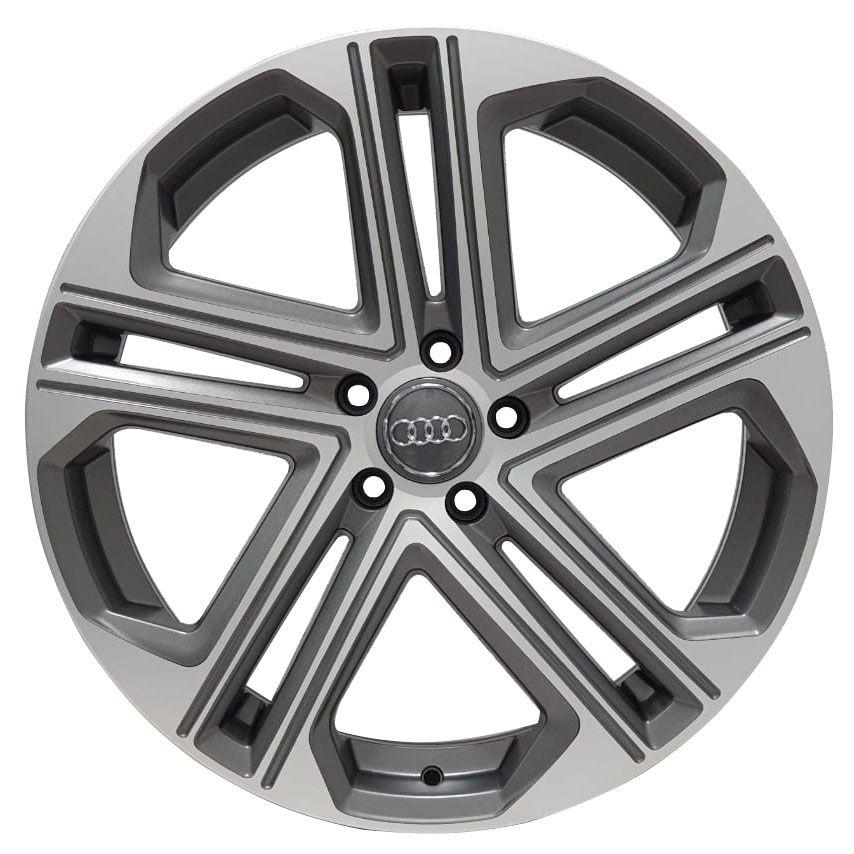 Jogo 4 Rodas Zeus ZWA S7 Audi S7 aro 20 tala 8 Furação 5x100 ET40 Grafite diamantado semi brilho