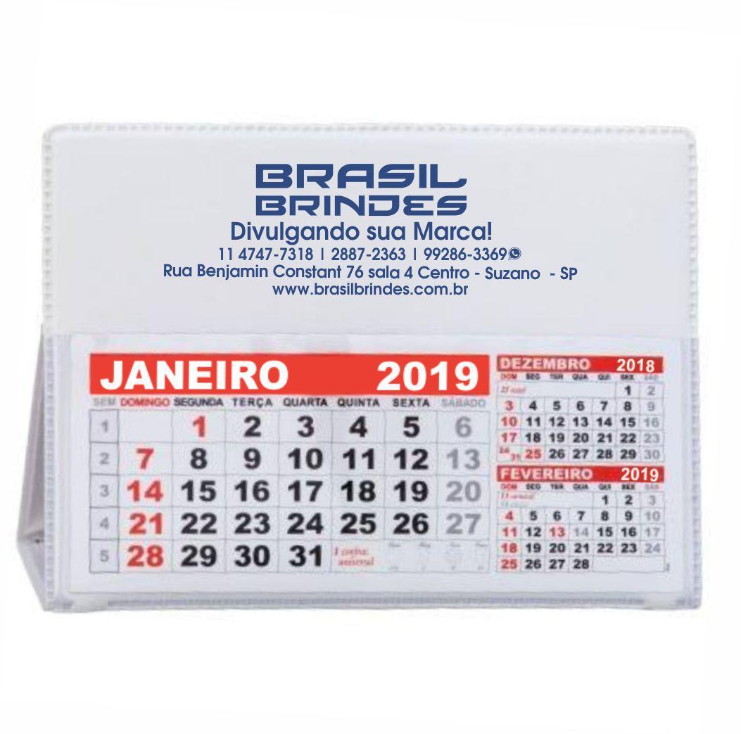 100 Calendários de mesa PVC  - BRASIL BRINDES