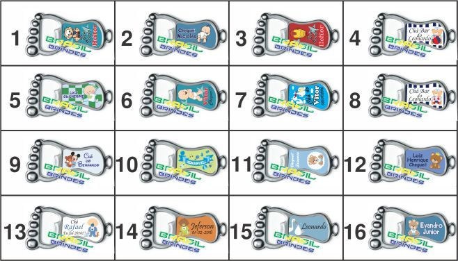 50 Chaveiros mod.Pezinho  - BRASIL BRINDES