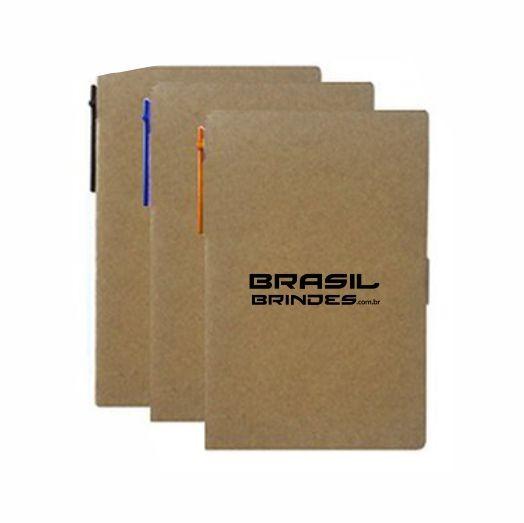 50 Blocos de anotação com caneta 11911Sbr  - BRASIL BRINDES