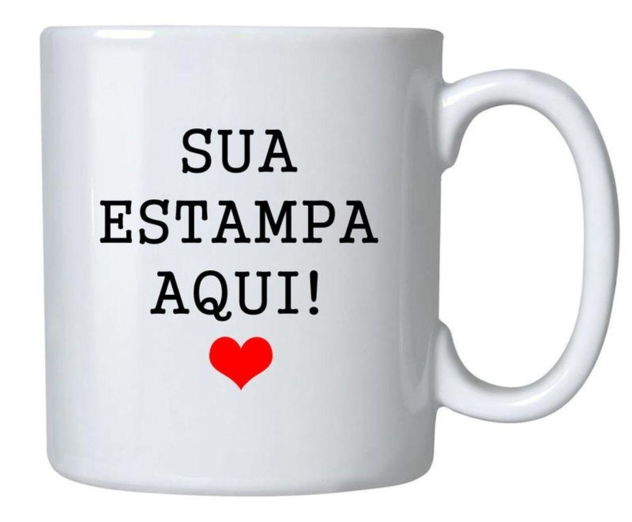 1 Caneca de Porcelana Personalizada + 1 Caixa de brinde.  - BRASIL BRINDES