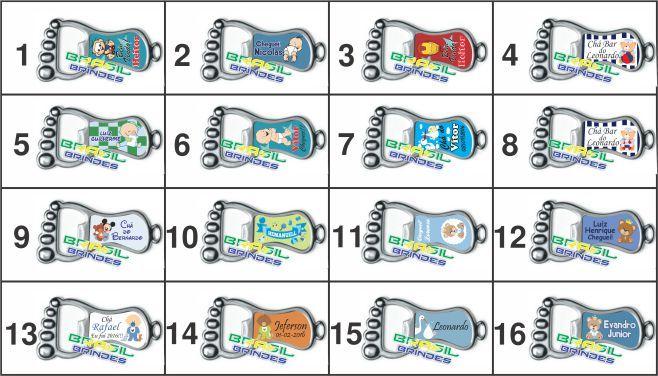 100 Chaveiros mod.Pezinho  - BRASIL BRINDES