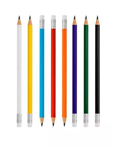 100 Lápis com borracha 11827br  - BRASIL BRINDES