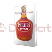 Charuto Titan Phillies Cognac - Caixa com 5 unidades