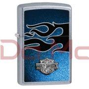 Isqueiro Zippo Harley Davidson azul e preto