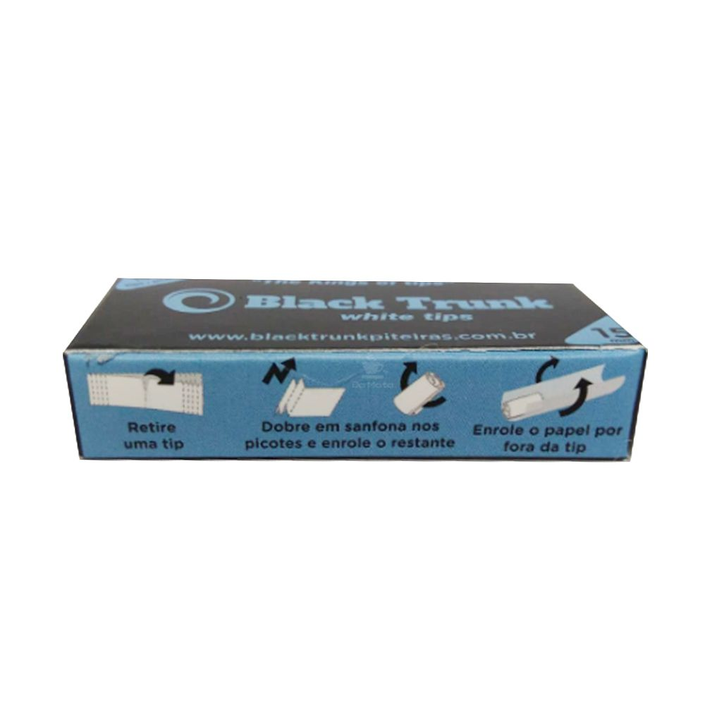 Piteira de Papel Black Trunk White Tips 15mm
