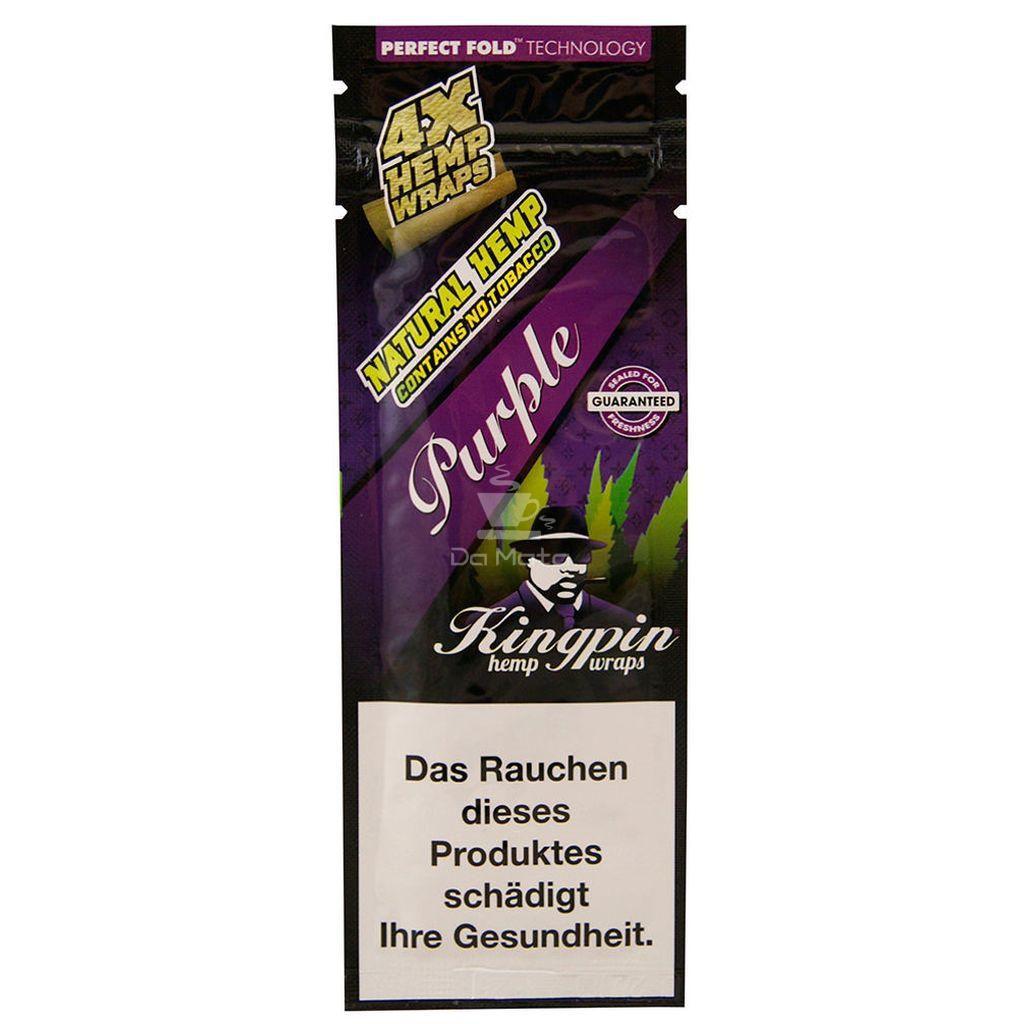 Blunt Kingpin Hemp Purple - 1 pack 4 unidades - IMPORTADA