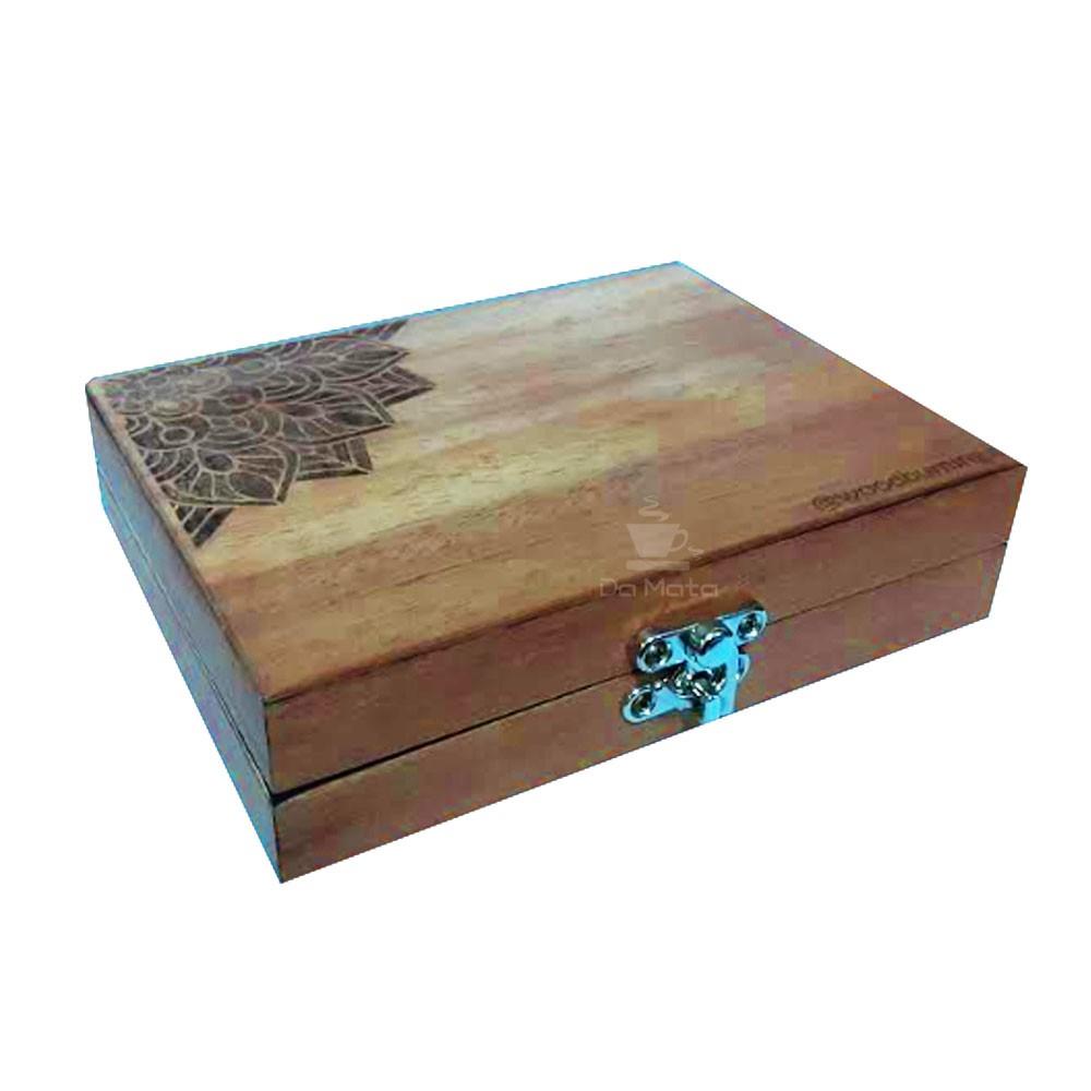 Box Glass Wood Burning Mandala