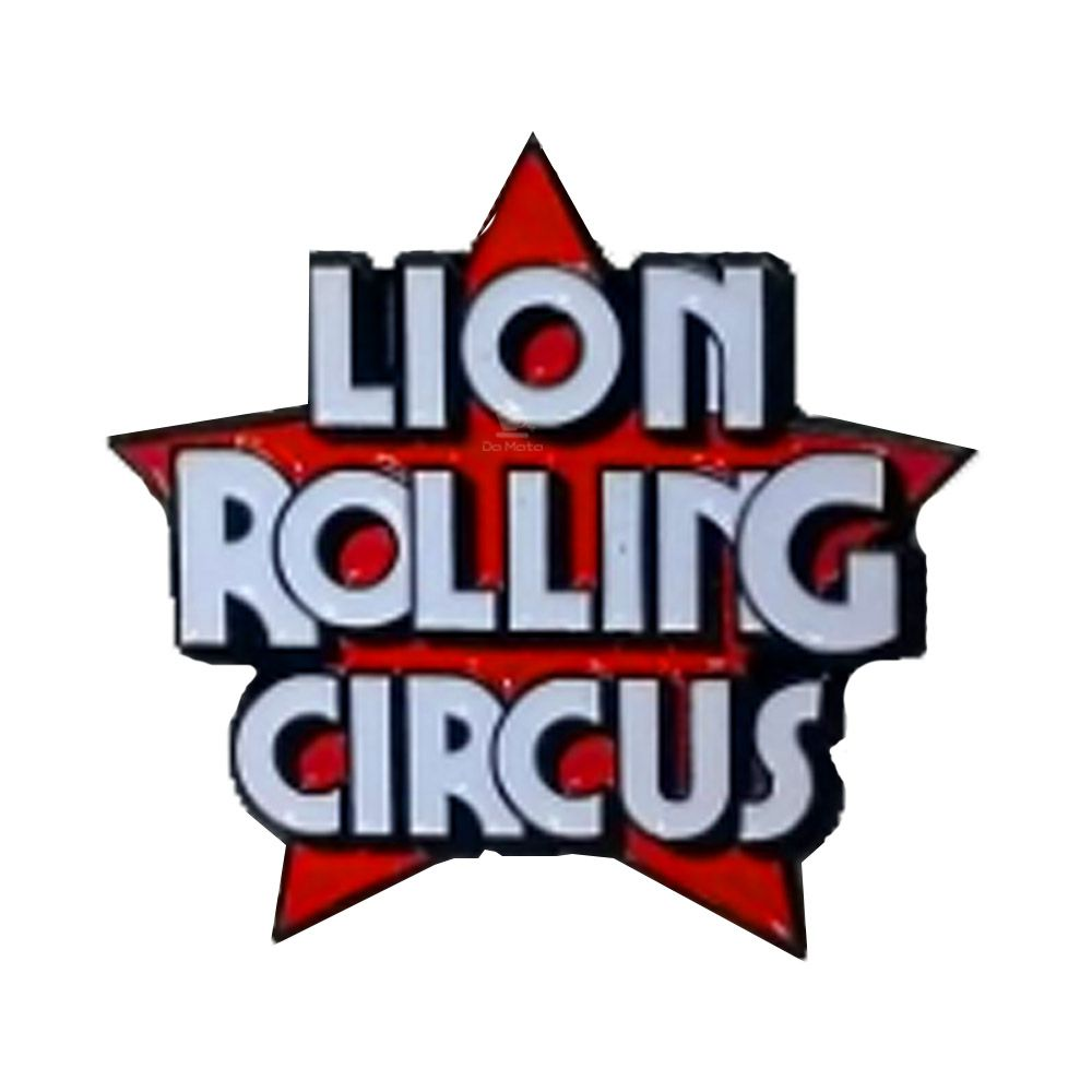 Broche Lion Rolling Circus