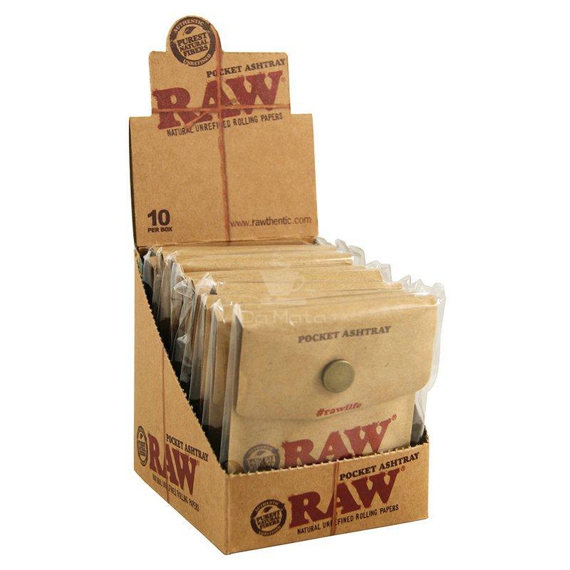 Caixa de Cinzeiro Portátil RAW com 10un