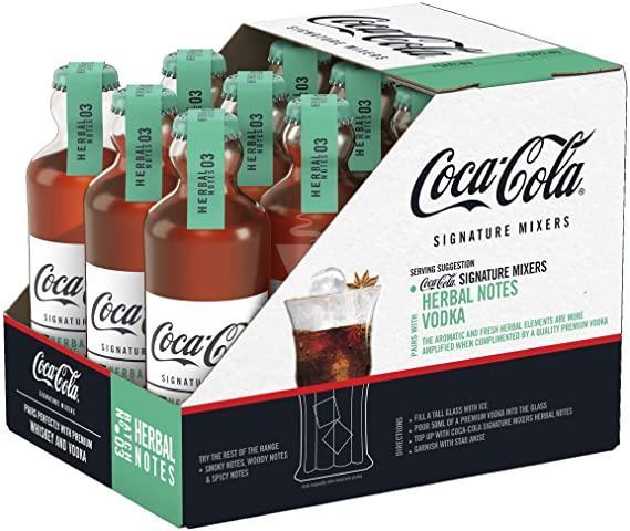 Caixa de Coca-Cola Signature Herbal Importado França