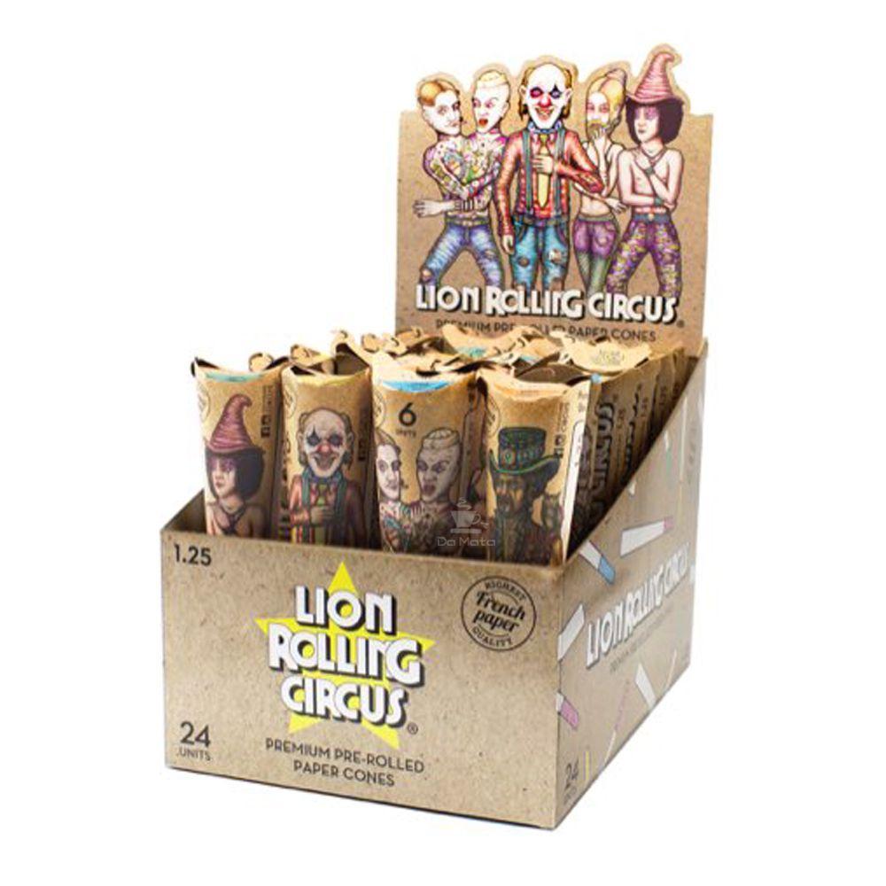 Caixa de Cone Pré-enrolado Lion Rolling Circus 1.25