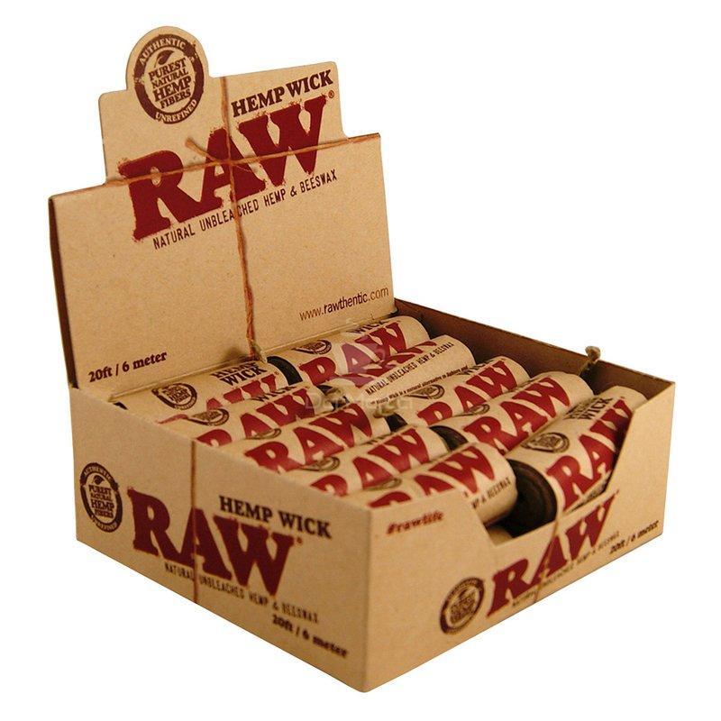 Caixa de cordão Raw Hemp Wick