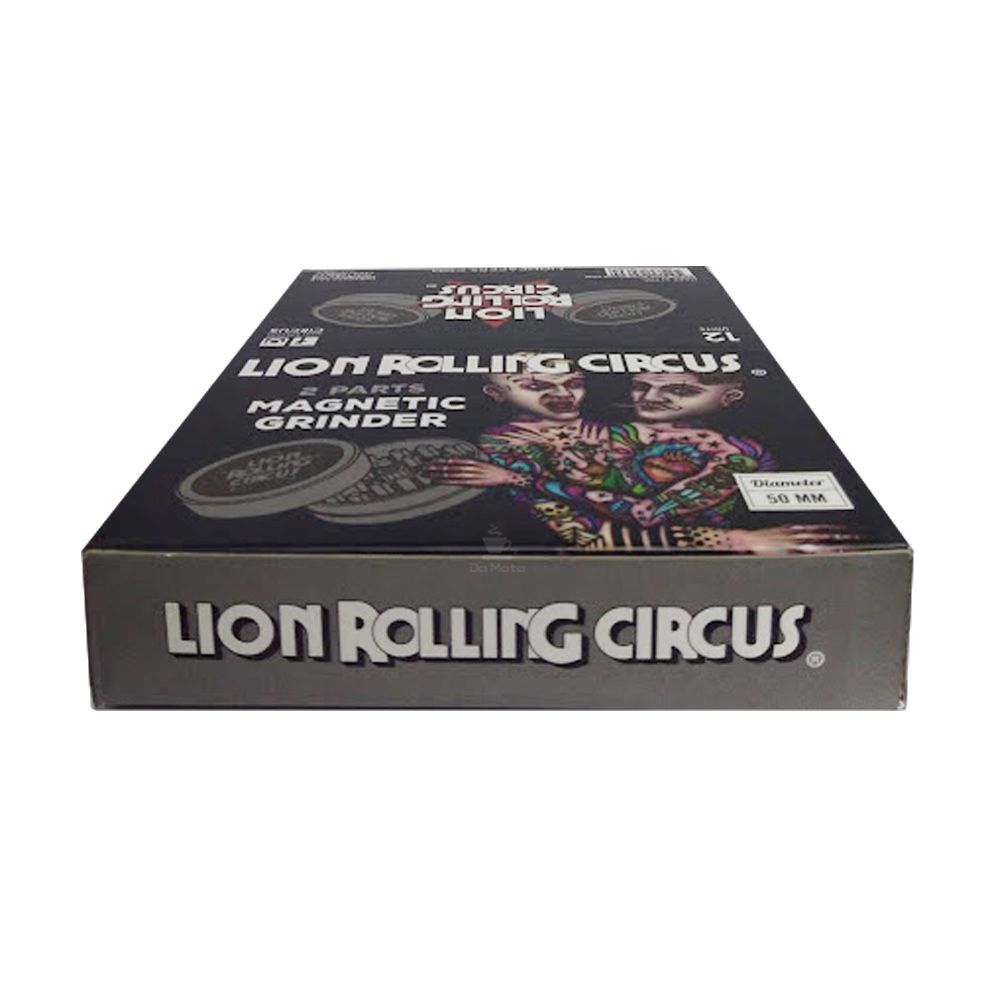 Caixa de Dichavador de Metal 2 partes Lion Rolling Circus