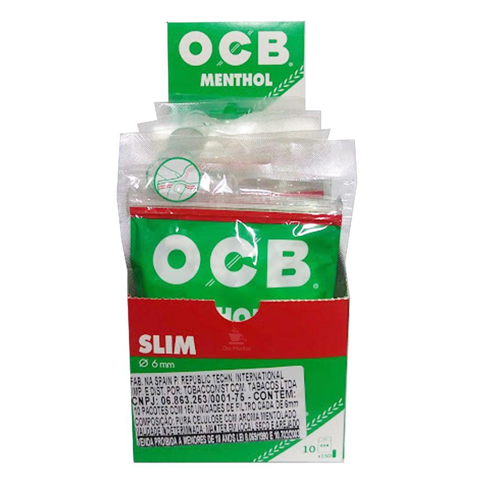 Caixa de Filtro OCB Menthol Slim 6mm