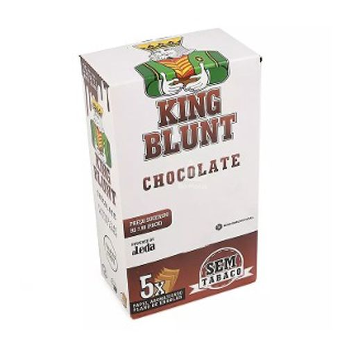 Caixa de King Blunt - Chocolate, 25 envelopes - 125 Blunts