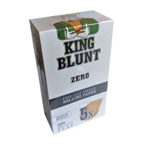 King Blunt - Zero -Caixa 25 envelopes, 125 Blunts