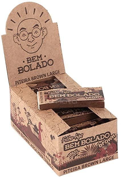 Caixa de Piteira Bem Bolado Brown  large - 24 livretos