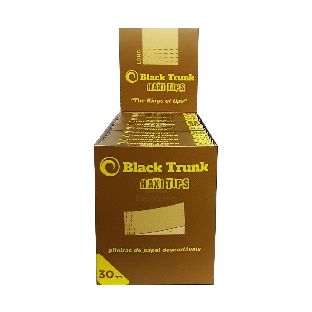 Caixa de Piteira de Papel Black Trunk Haxi Tips 30mm