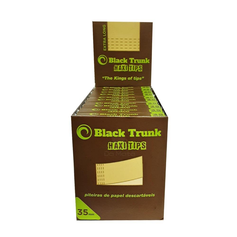 Caixa de Piteira de Papel Black Trunk Haxi Tips 35mm