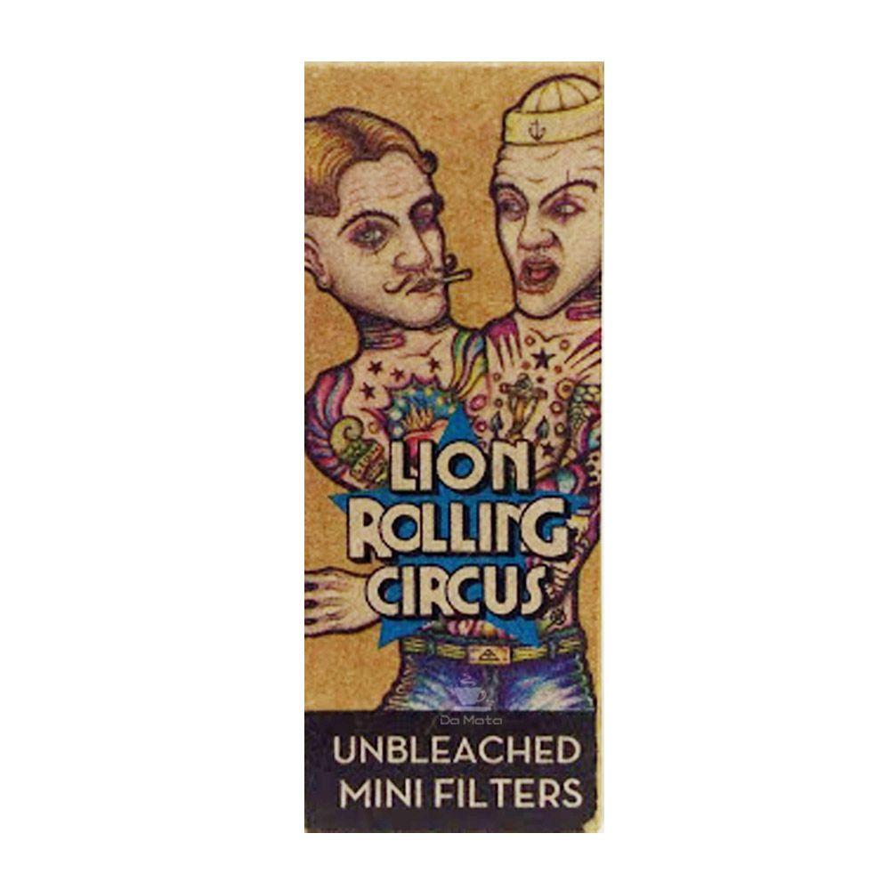 Caixa de Piteira de Papel Lion Rolling Circus Unbleached Mini Smoke
