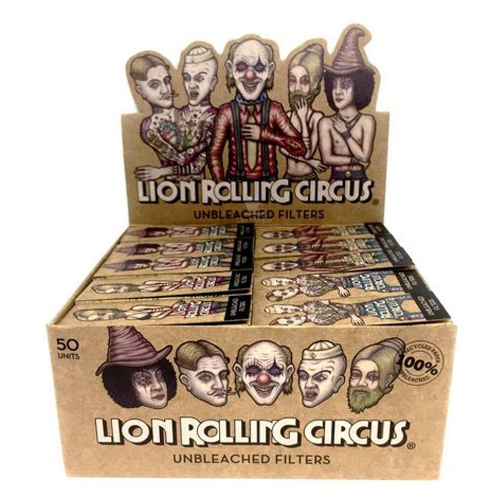 Caixa de Piteira de Papel Lion Rolling Circus Unbleached Big Smoke