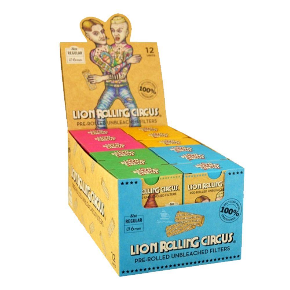 Caixa de Piteira Pré-enrolada Lion Rolling Circus