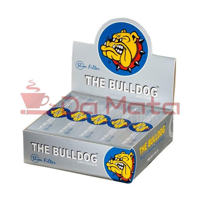 Caixa de Piteira The Bulldog Silver ORIGINAL