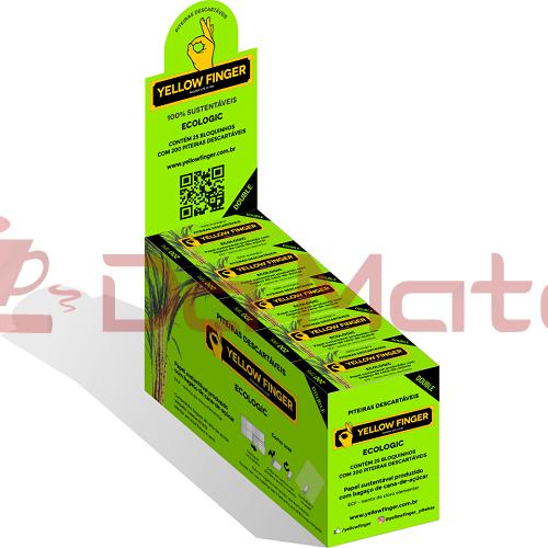 Caixa de Piteira Yellow Finger Ecologic
