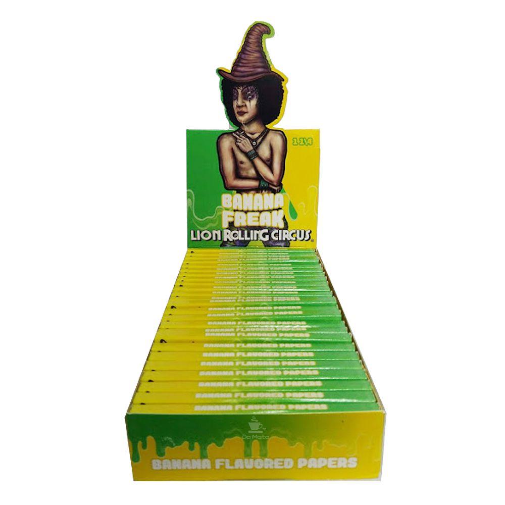 Caixa de Seda de Banana Lion Rolling Circus 1 1/4