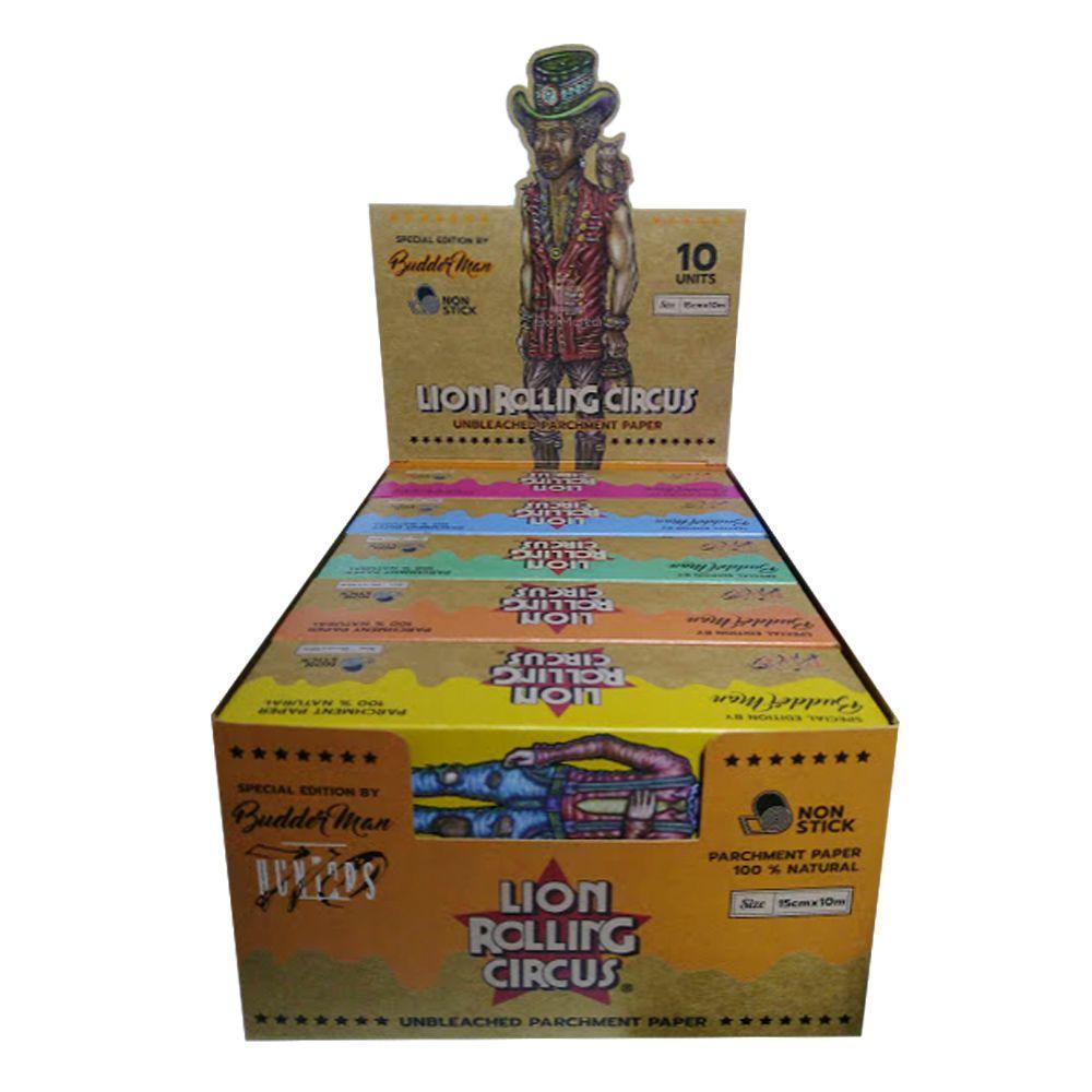 Caixa de Seda de Rolo Lion Rolling Circus