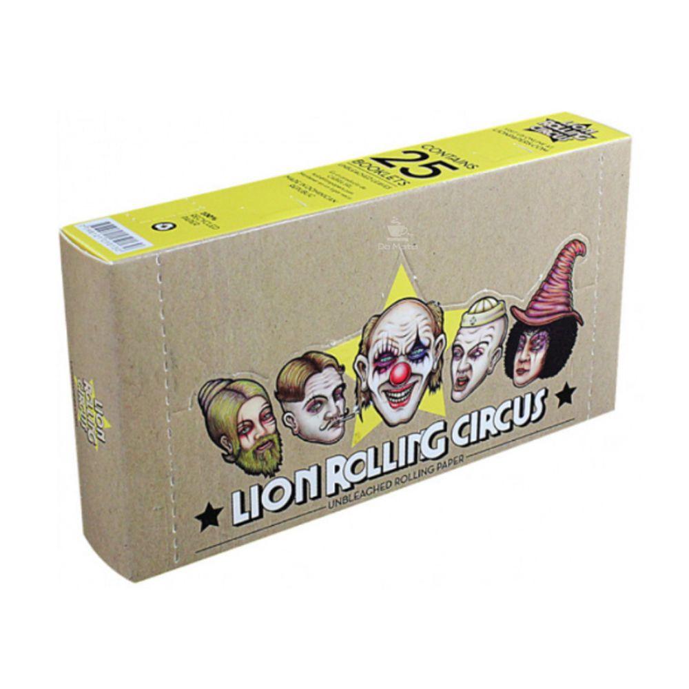 Caixa de Seda Lion Rolling Circus Unbleached 1 1/4