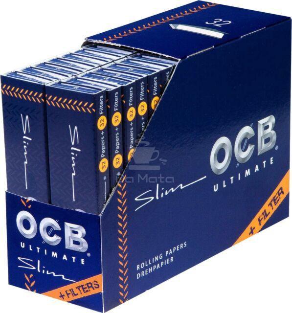 Caixa de Seda OCB Ultimate com Piteira