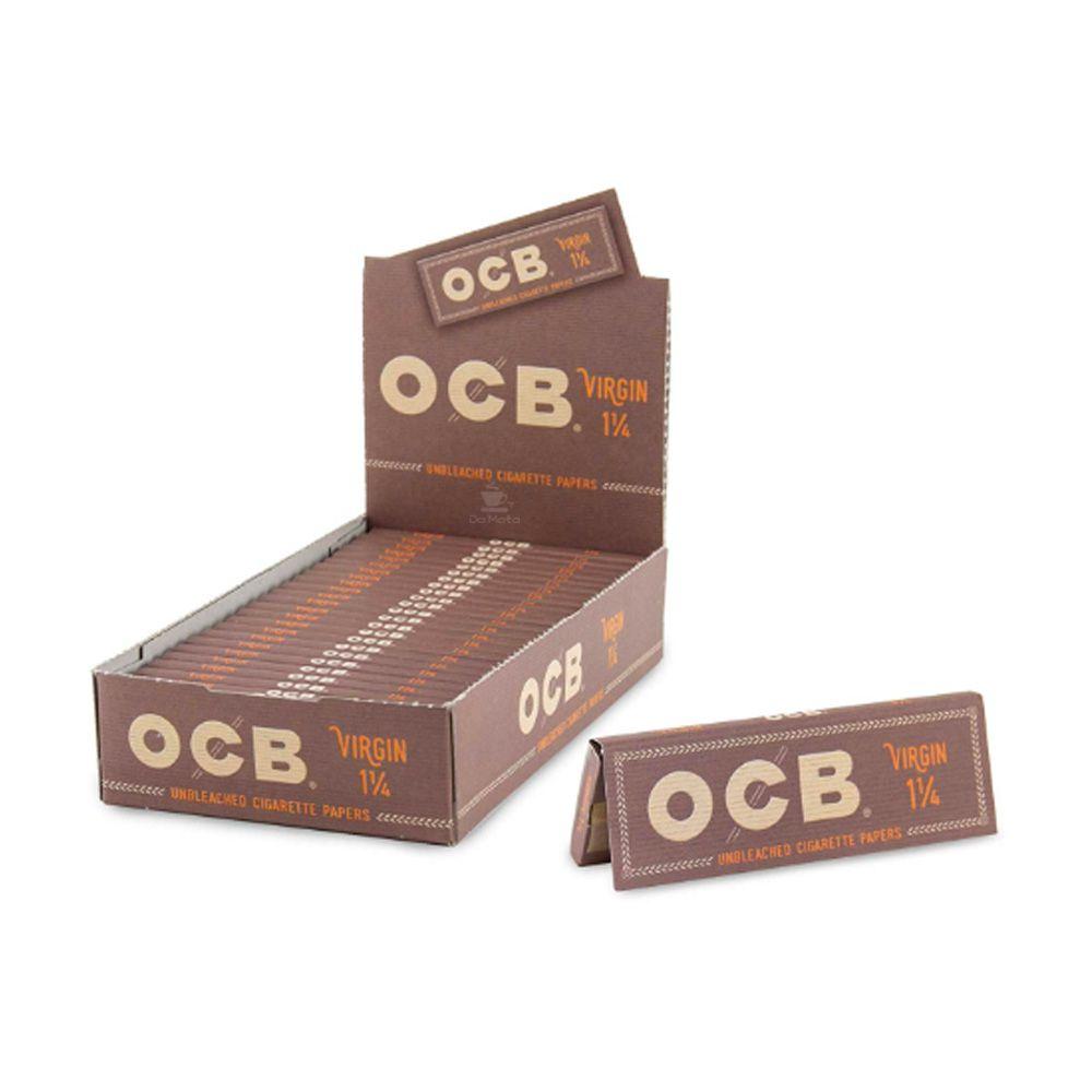Caixa de Seda OCB Unbleached 1 1/4