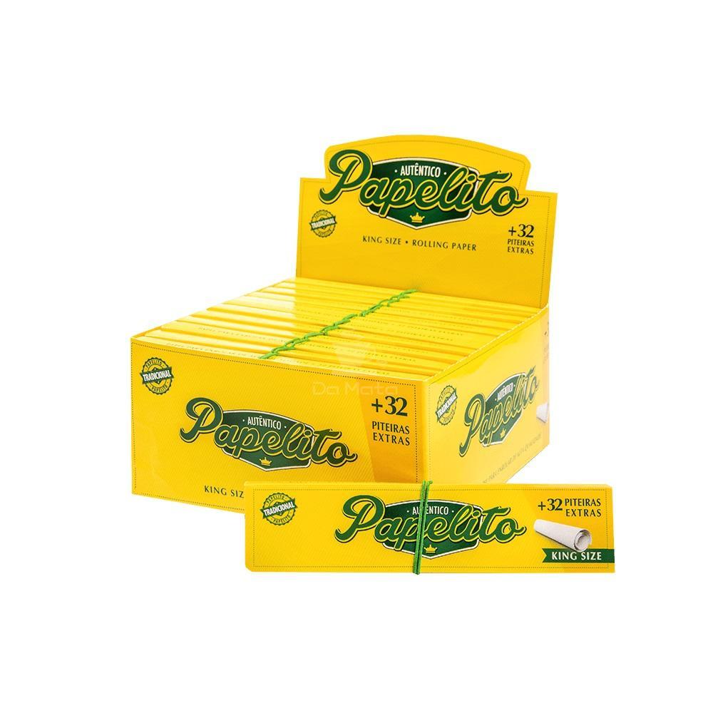 Caixa de Seda Papelito com Piteira 24 unidades
