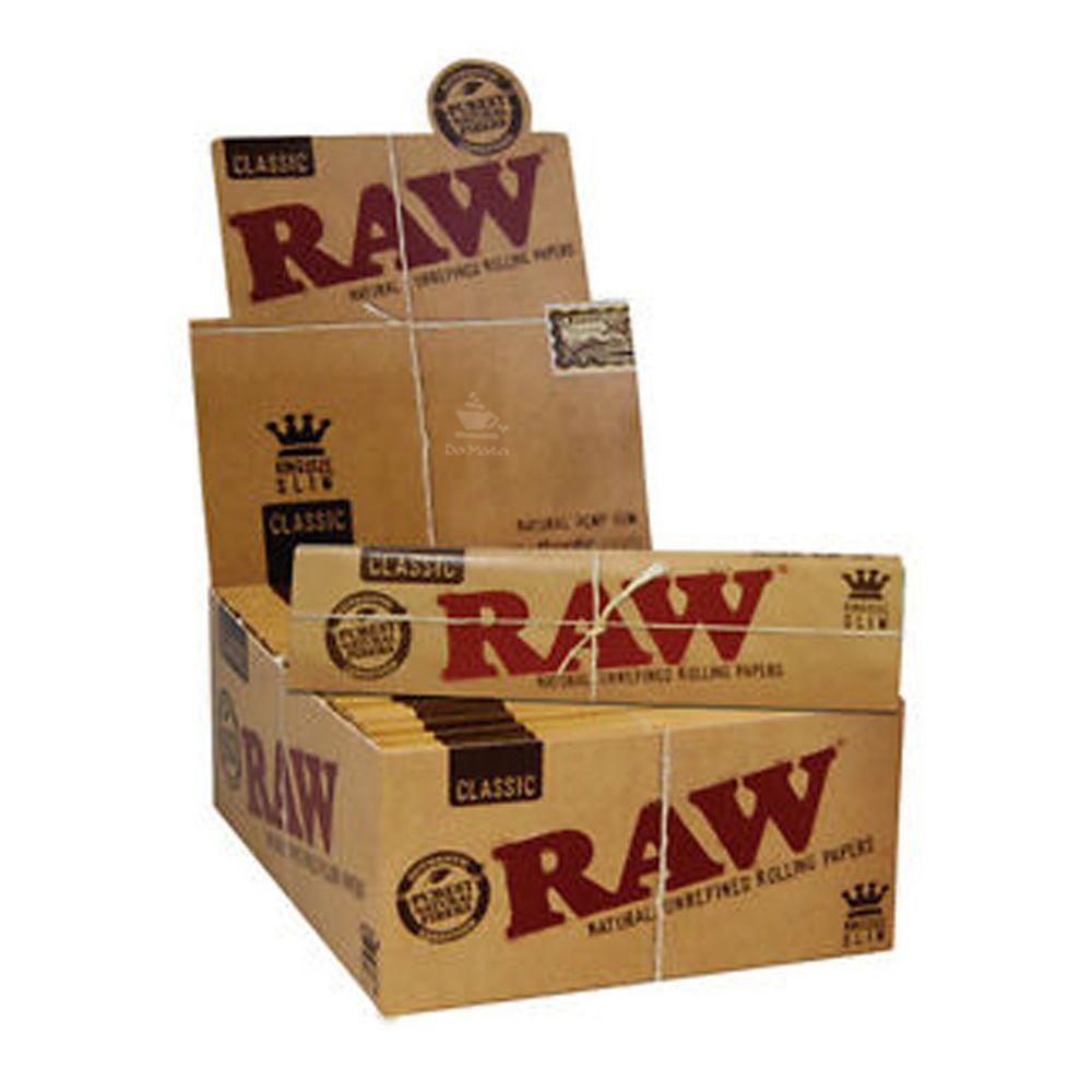 Caixa de Seda Raw Classic King Size Slim