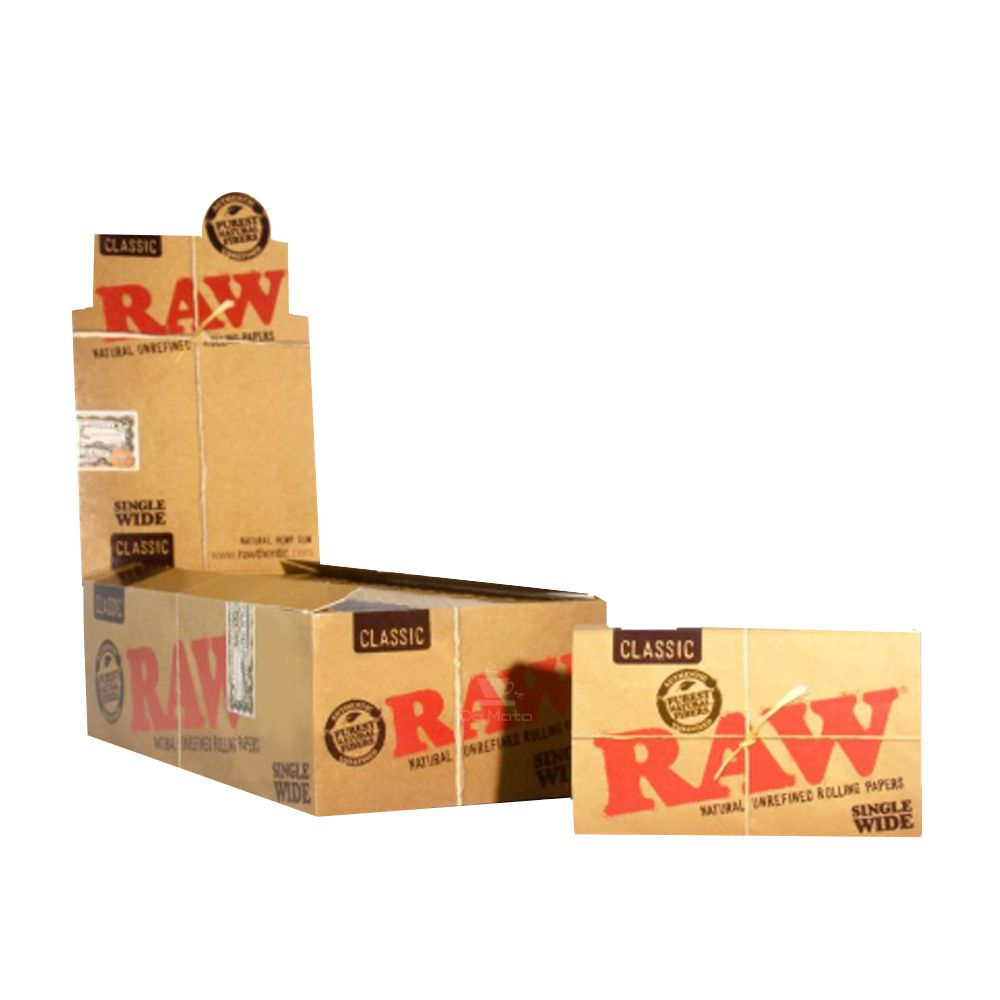 Caixa de Seda Raw Classic Single Wide