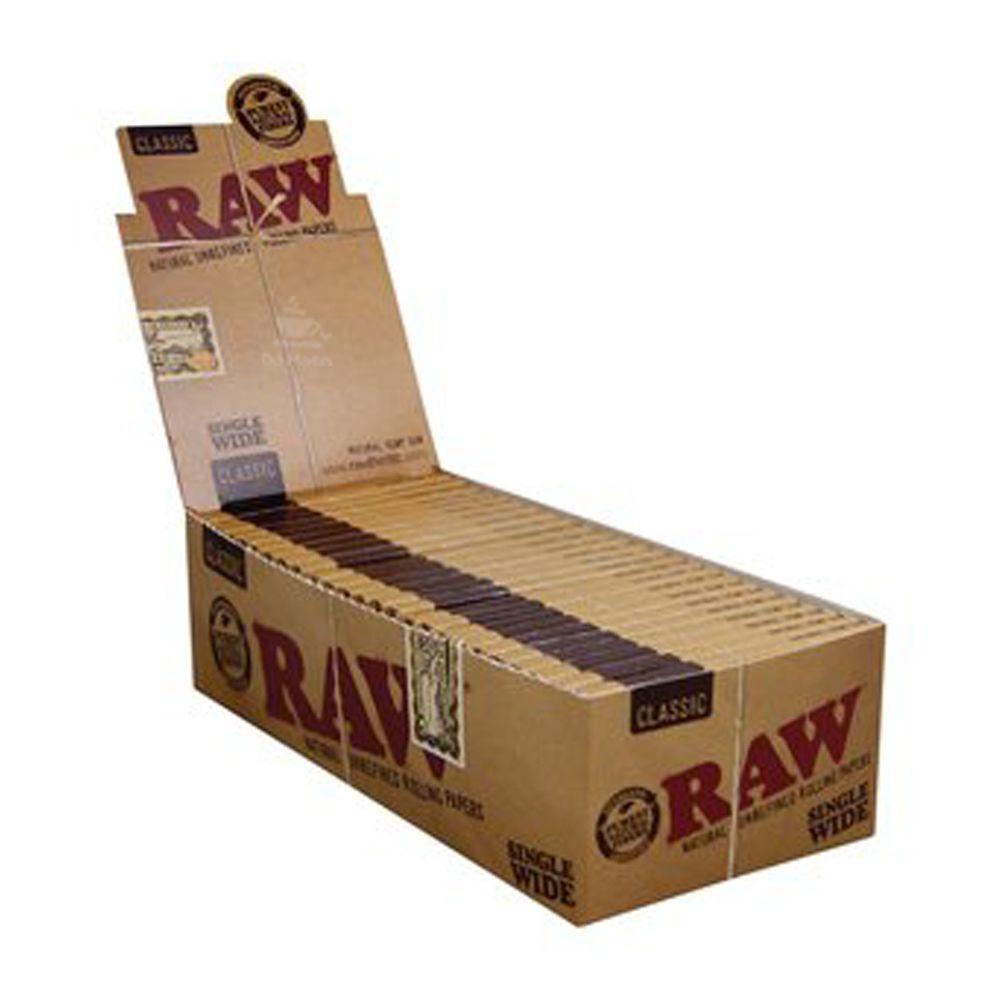 Caixa de Seda Raw Classic Single Wide - Mini Size