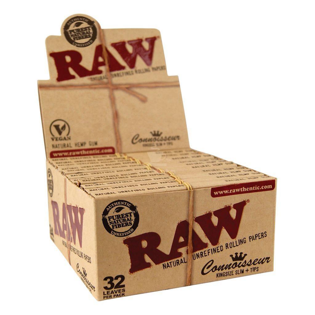 Caixa de Seda Raw com piteira CONNOISSEUR